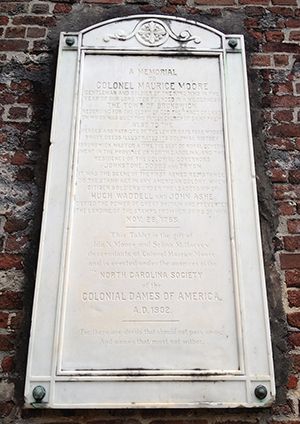NC Dames marker at St. Philip's Church, Brunswick Town